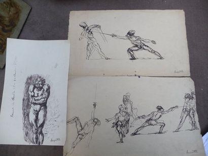 Le chevalier d'Eon - 1895 Personnage, dessin...