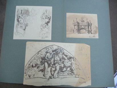 Anquetin et le décor Tympan de l'église d'Etrépagny...