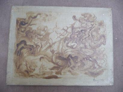 Le combat - 1896 (étude pour « Le combat...