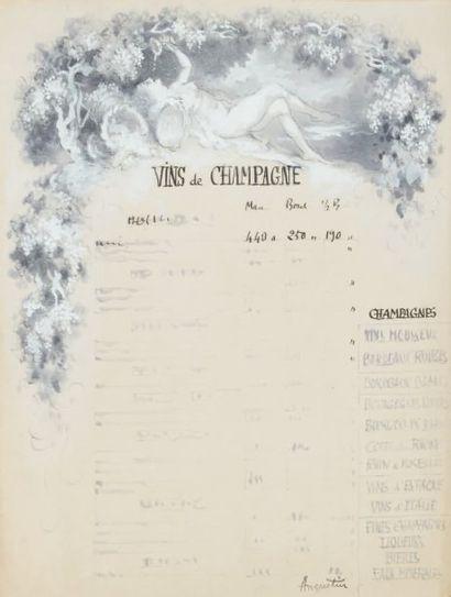 Projets publicitaires, Vins de Champagne,...