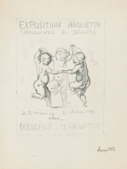 Projet d'affiche de l'exposition Anquetin...
