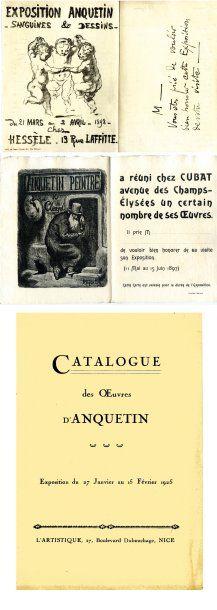 Invitations imprimées à des expositions de...
