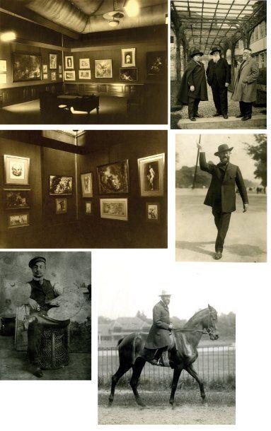 Belle photographie de Louis Anquetin à cheval...