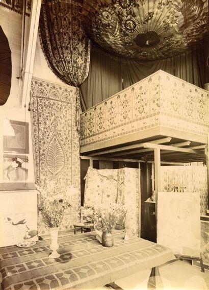 Photographie inédite de l'atelier d'Anquetin,...
