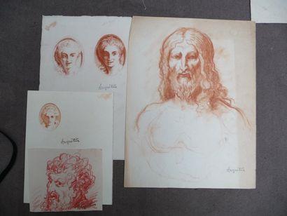 Portraits et sujets divers Sanguines, formats...