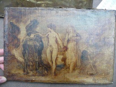 La présentation Huile sur toile, 16 x 24...