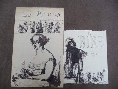 Le Rire - 1895 Dessin à l'encre, 23,5 x 20...