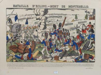 Quatre images d'Épinal, réédition, sous verre:...
