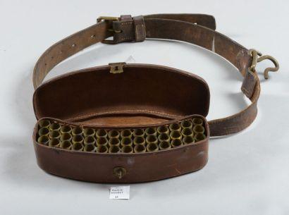 Cartouchière de ceinture de chasse en cuir...