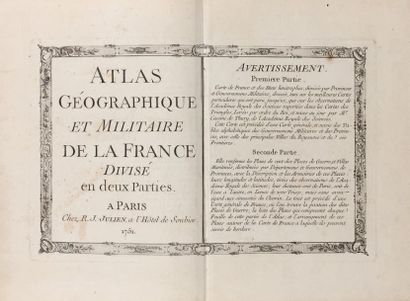 [ATLAS - CASSINI DE THURY (Jean Dominique)]....
