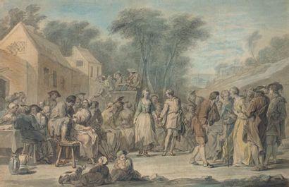 Ecole HOLLANDAISE du XVIIIème siècle, suiveur d'Abraham RADEMAKER