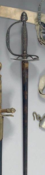 Rare épée de cour d'inspecteur aux revues,...