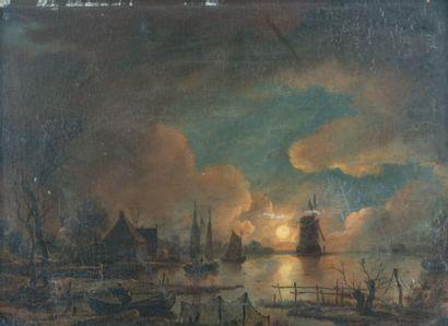 Ecole HOLLANDAISE du XIXème siècle, d'après Aert van der NEER