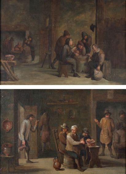 Ecole FLAMANDE du XVIIIème siècle, suiveur de Matthieu van HELMONT