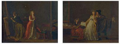 Ecole FRANCAISE de la fin du XVIIIème siècle, entourage de Jean Baptiste MALLET