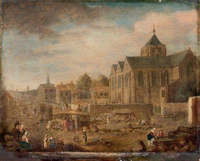 Ecole FLAMANDE vers 1790, entourage de Jacques Albert SENAVE