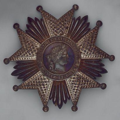 Plaque de grand-officier de l'ordre de la...