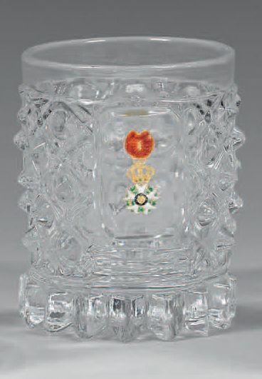 Verre gobelet en cristal moulé, orné d'une...