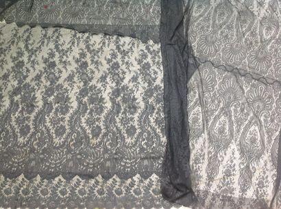 Deux très grands panneaux pour jupe, en fin...