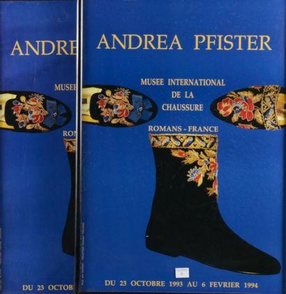 Deux affiches encadrées ANDREA PFISTER «Musée...