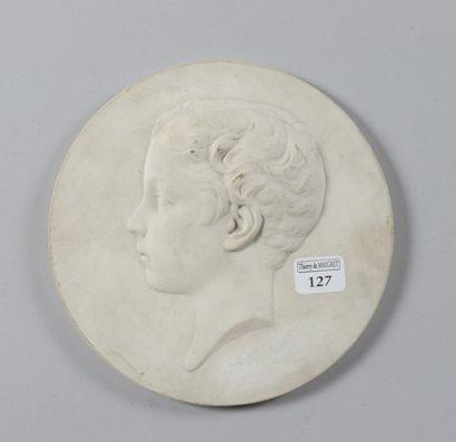 Peyre, medaillon en biscuit: Portrait du...