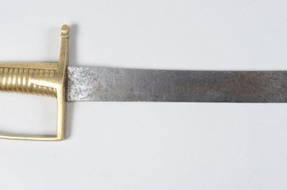 Briquet d'infanterie modèle 1767, lame gravée: «GRENADIER» sur une face, «NATION»...