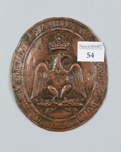 Plaque d'huissier de la Mairie de d'Aouste...
