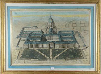 Hotel Royal des Invalides, gravure coloriée...