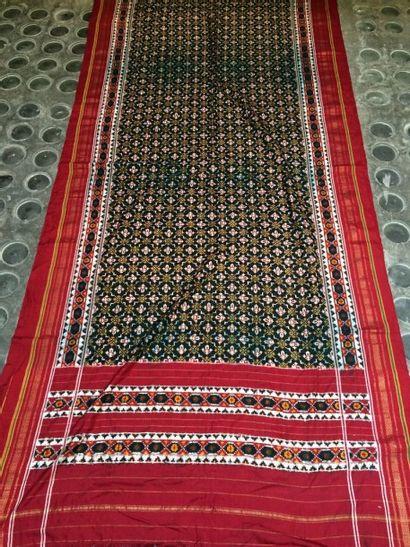 Grand sari en ikat patola, Inde pour le marché...