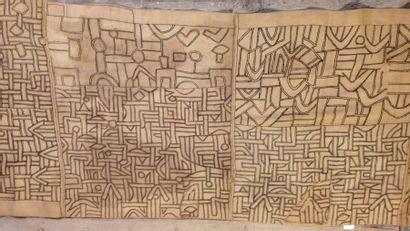 «Ntshak» en Kuba Raphia, Zaïre, XXe siècle....