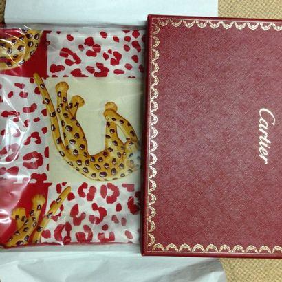 Foulard ou carré en twill de soie, Cartier....