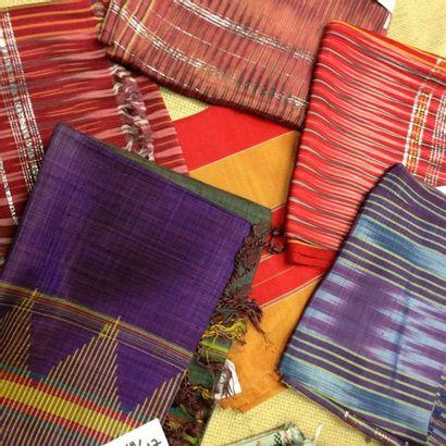 Lot de 6 serviettes de Hammam, Egypte. Coton,...