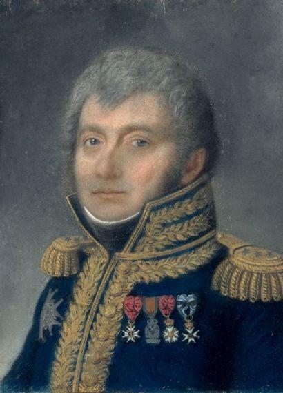 Pastel: Portrait d'un général de division...