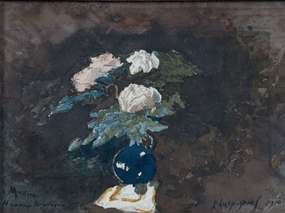 Henri Joseph HARPIGNIES (Valenciennes 1819 - Saint-Privé 1916)