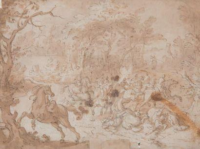 Attribué à Jan van HUCHTENBOURG  (1647– 1733).
