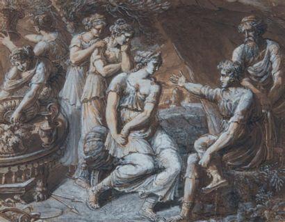 Attribué à Giuseppe CADES (Rome 1750 - 1799)