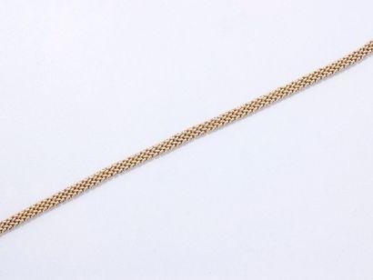 Bracelet en or 585 millièmes, maille tressée,...
