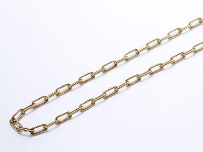 Longue chaîne en or 750 millièmes composé...
