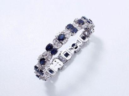 Bracelet articulé en or gris 750 millièmes,...