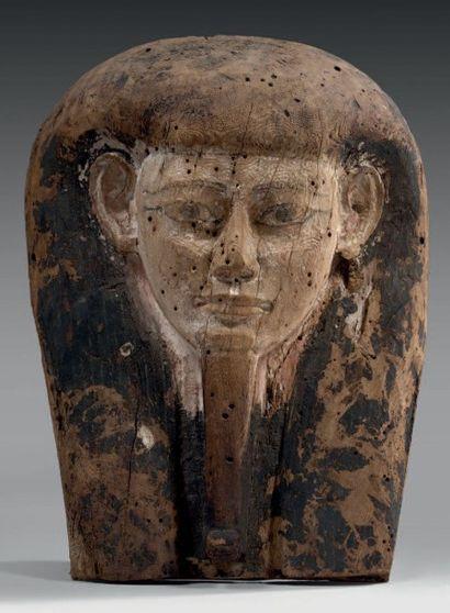 Important fragment de cuve de sarcophage,...