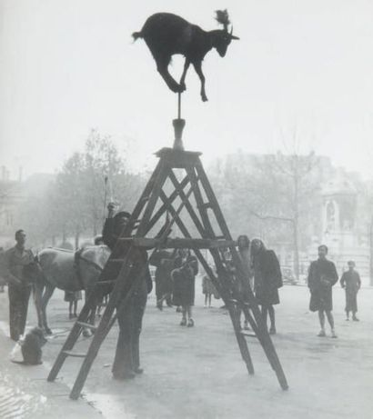 La chèvre sur l'échelle, Place Saint Sulpice,...