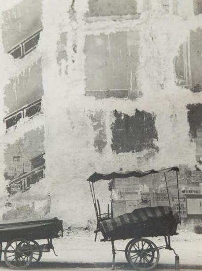 Façade, rue de Seine, 1948 Tirage gélatino-argentique...