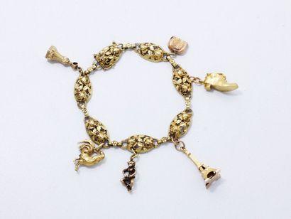 Bracelet en or 750 millièmes, maillons ovales...