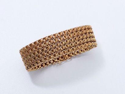 Bracelet en or 750 millièmes tressé, maille...