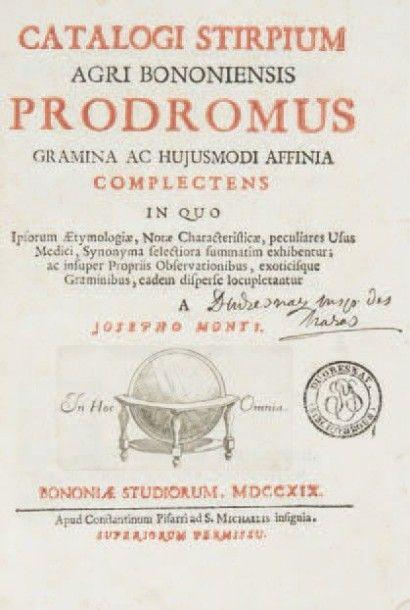 [BOTANIQUE]. MONTI (Giuseppe). Catalogi stirpium...
