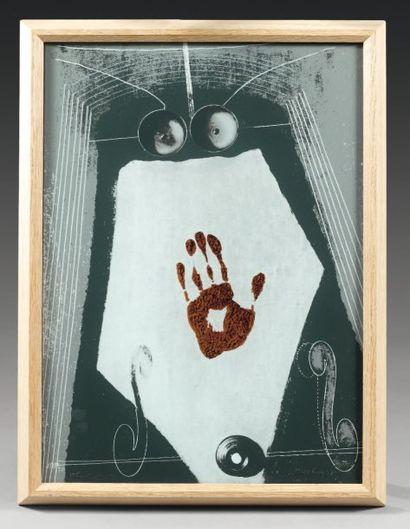 MAN RAY (Emmanuel Rudnitsky, dit) (1890-1976) Autoportrait. 1970. Sérigraphie sur...