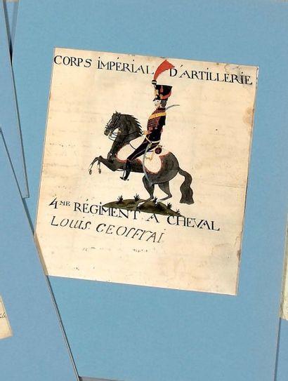 L. A. S. de Louis Geoffroi, cavalier au 4e...