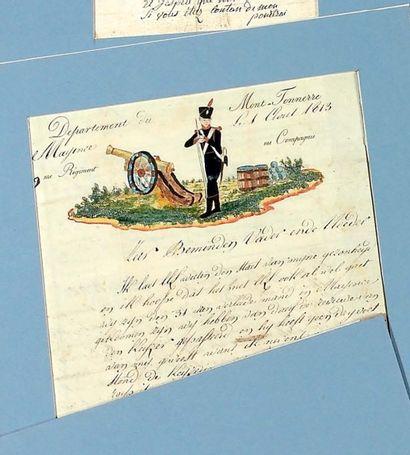 L. A. S. de Dominique José Saeys, au 9e régiment...