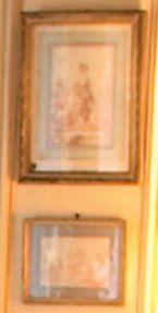 D'après François BOUCHER Jeune fille au chien Reproduction à la sanguine. 21,5 x...