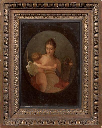 Jean-Baptiste MALLET (Grasse 1759 - Paris 1835) Oh le petit monstre ! Toile à vue...